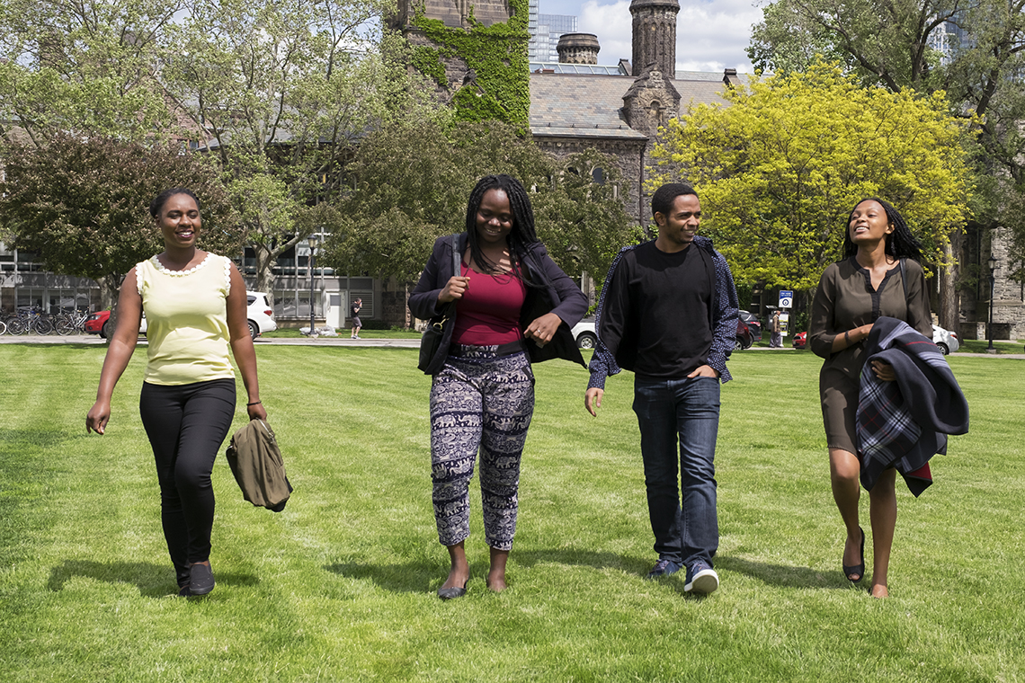 Mastercard Foundation scholars on front campus