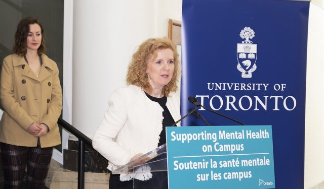 Province at U of T to announce funds for mental health services in colleges and universities