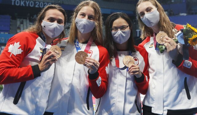 Kylie Masse completes Tokyo medal haul with silver in 200-metre backstroke, bronze in relay – August 3, 2021